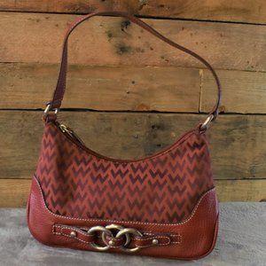 Vintage Red Wilsons Leather Handbag